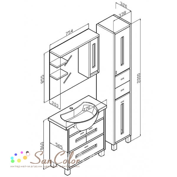 Мебель для ванной чертежи